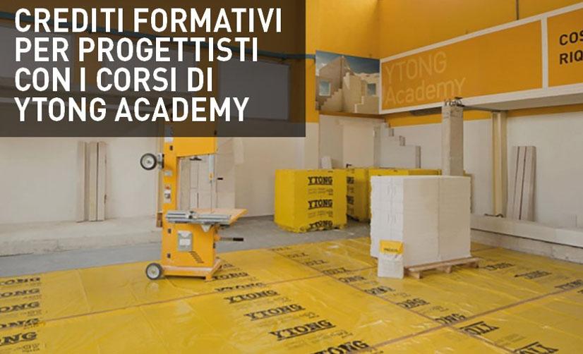 Ytong Academy, 4 corsi di formazione per imprese, artigiani e, con crediti formativi, per professionisti a maggio e giugno.