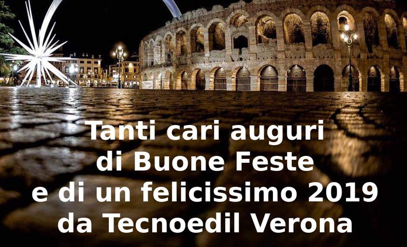 Tanti cari auguri di Buone Feste e di un felicissimo 2019 da Tecnoedil Verona.