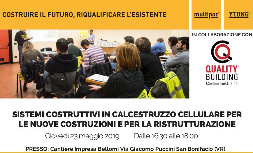 """Tecnoedil invita all'incontro Ytong """"Sistemi costruttivi in calcestruzzo cellulare per le nuove costruzioni e per la ristrutturazione""""."""